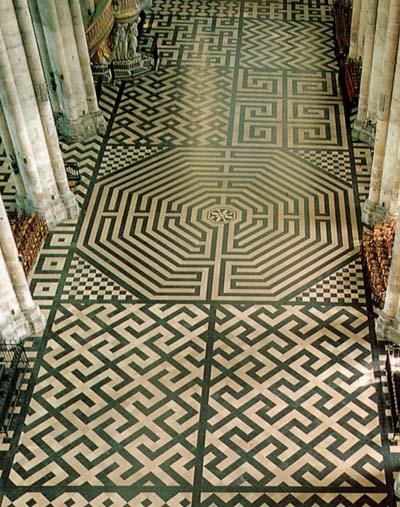 pavage labyrinthe de Amiens