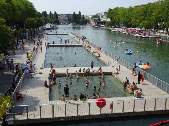 DSC00627 Baignade Bassin de la Villette (1)
