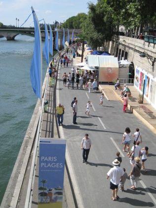 Paris Plages August 2012 und Baustelle Voie Pompidou 005