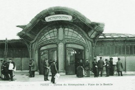 1metbast2 Metro Bastille Guimard