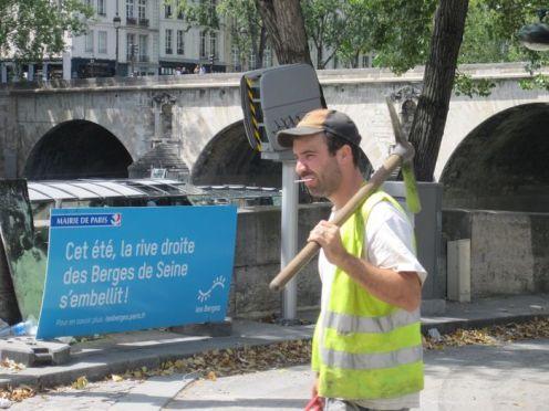 Paris Plages August 2012 und Baustelle Voie Pompidou 004