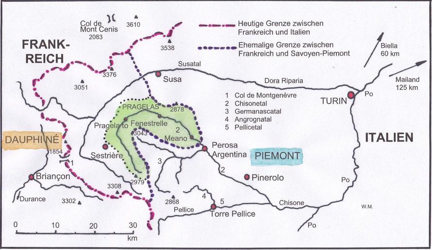 image Karte Waldenser Savoyen Piemont