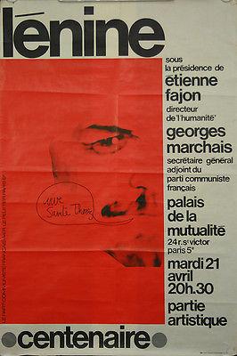 Affiche-originale-Lénine-Centenaire-Parti-Communiste-Français-Maurice