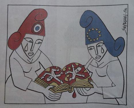 DSC02810 Karikatur Le Monde