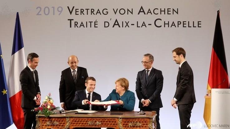 Unterzeichnung Aachener Vertrag