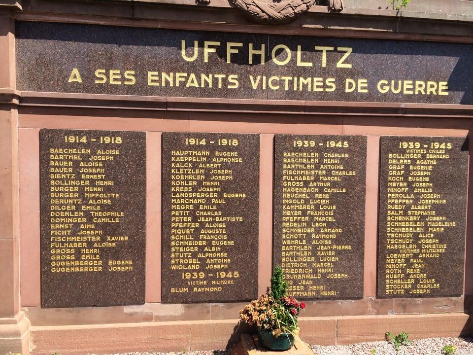 9390bd Kriegerdenkmal Uffholtz