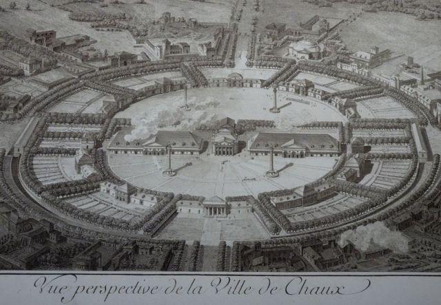 Arc et Senans Foto von Gilles Abegg, vue perspective de la ville de Chaux