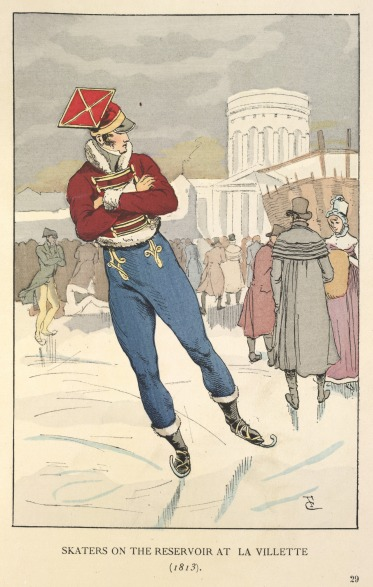 Skaters_on_the_reservoir_at_La_Villette_(1813)_-_Fashion_in_Paris_(1898),_plate_29_-_BL